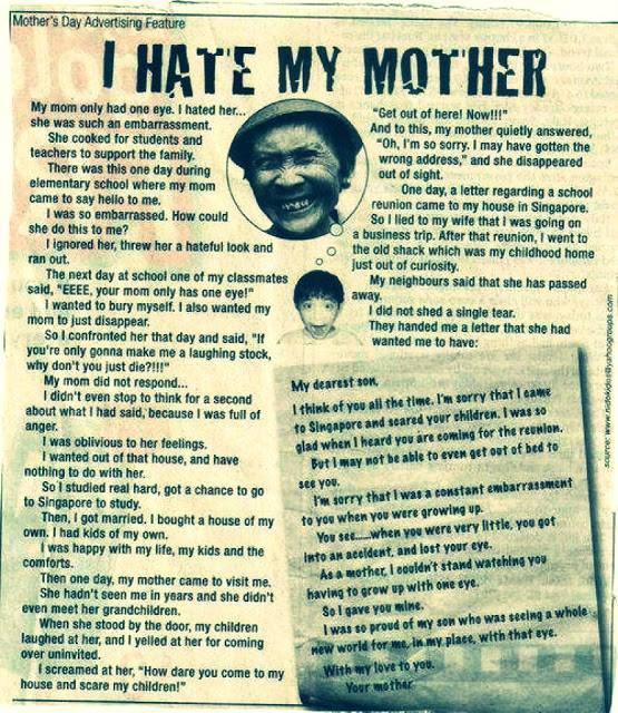 kisah nyata - I Hate my mother